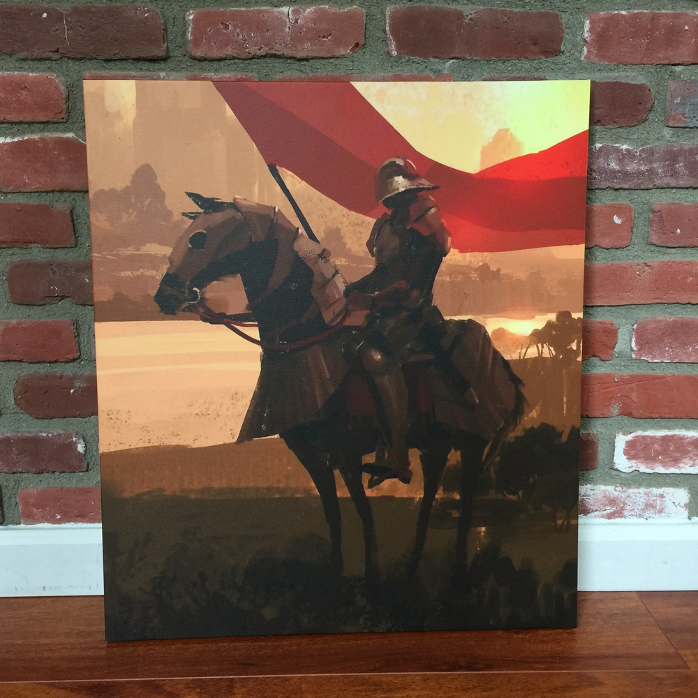 """Knight's Tale"" Canvas"