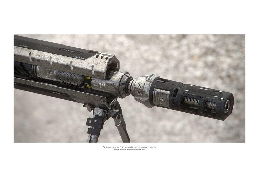 """Rifle Concept"" giclée print"