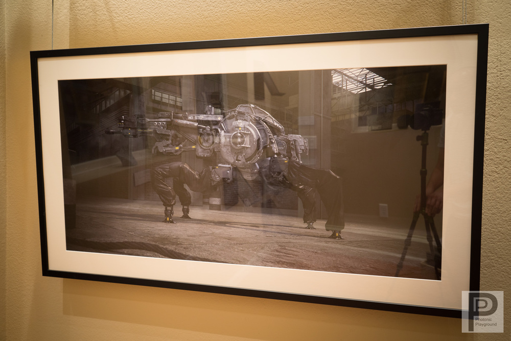"""Tortoise Mech"" (Warehouse style) framed and matted"