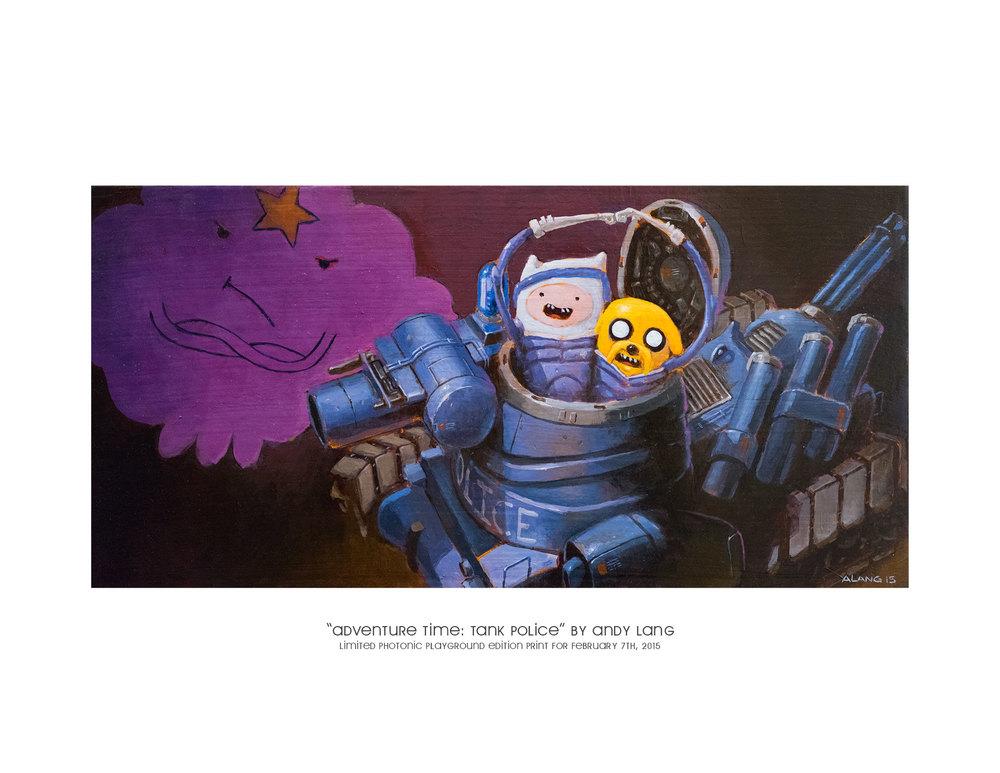 """Adventure Time: Tank Police"" gicl  é  e print"
