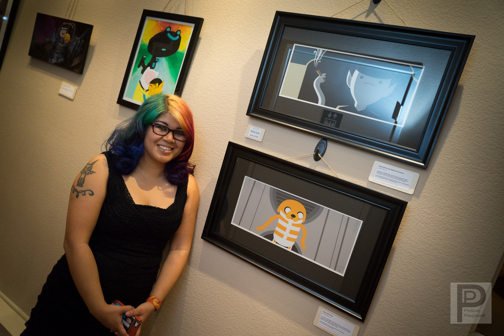 """Rachaeline the Replicant Queen""   and ""Leeloo the Human"" framed art"
