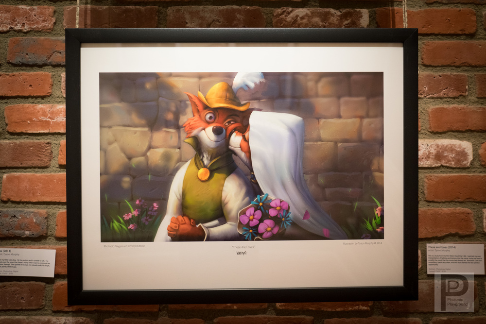 "Framed ""These Are Foxes"""