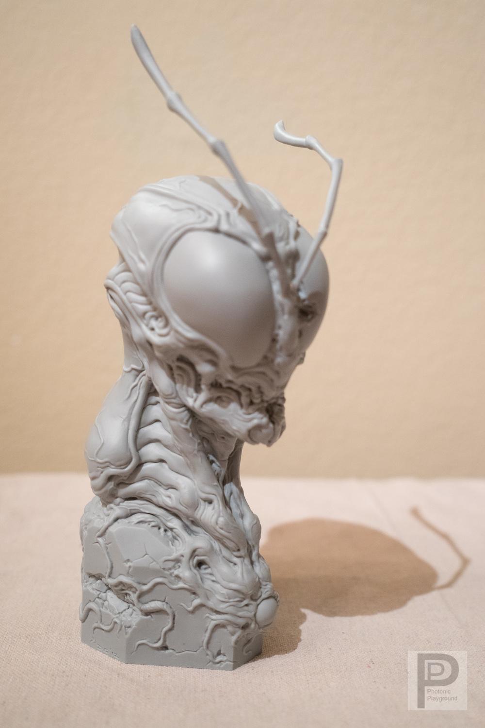 """""""Hopper"""" 3Dprinted bust"""
