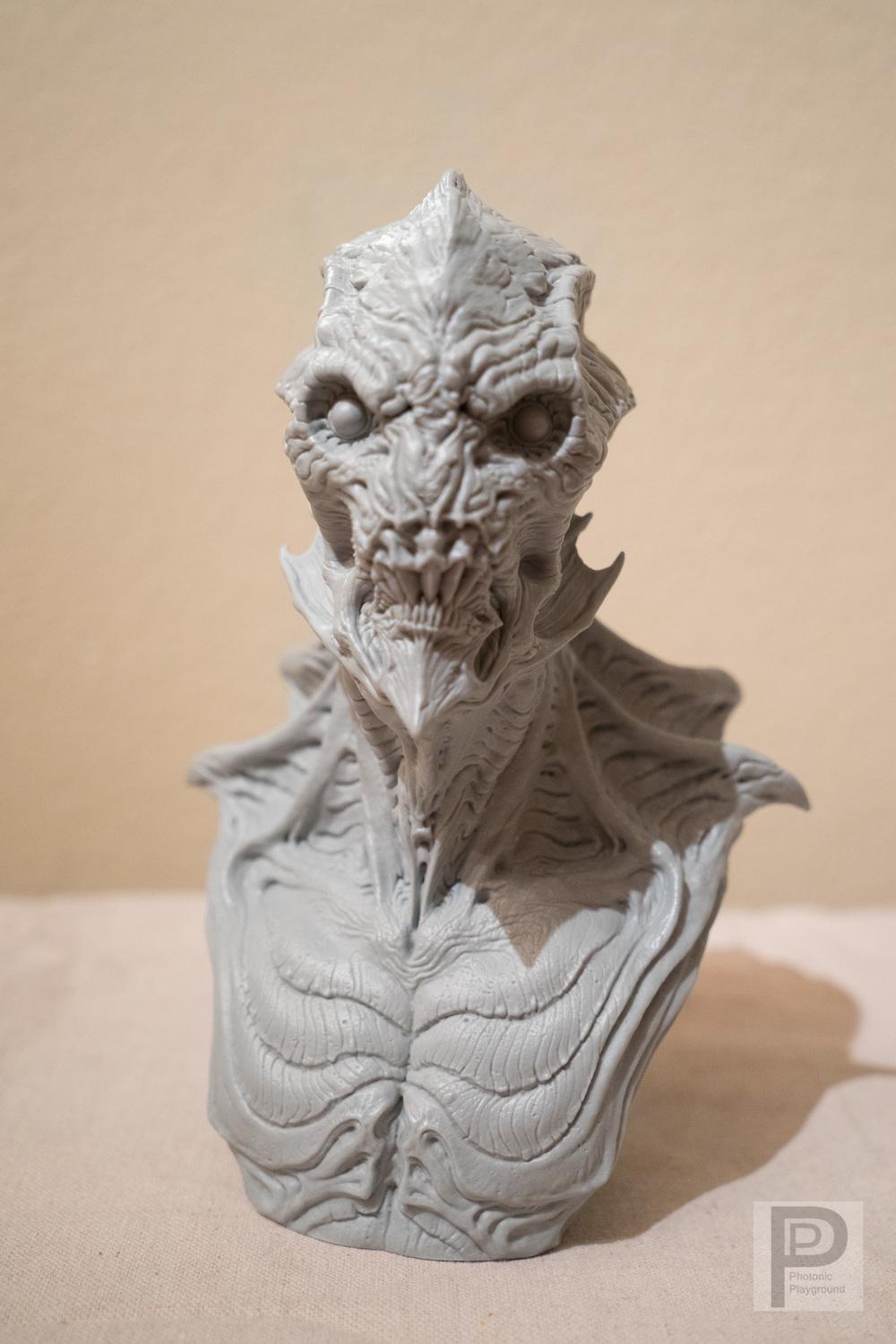 """""""Gillman""""3Dprinted bust"""