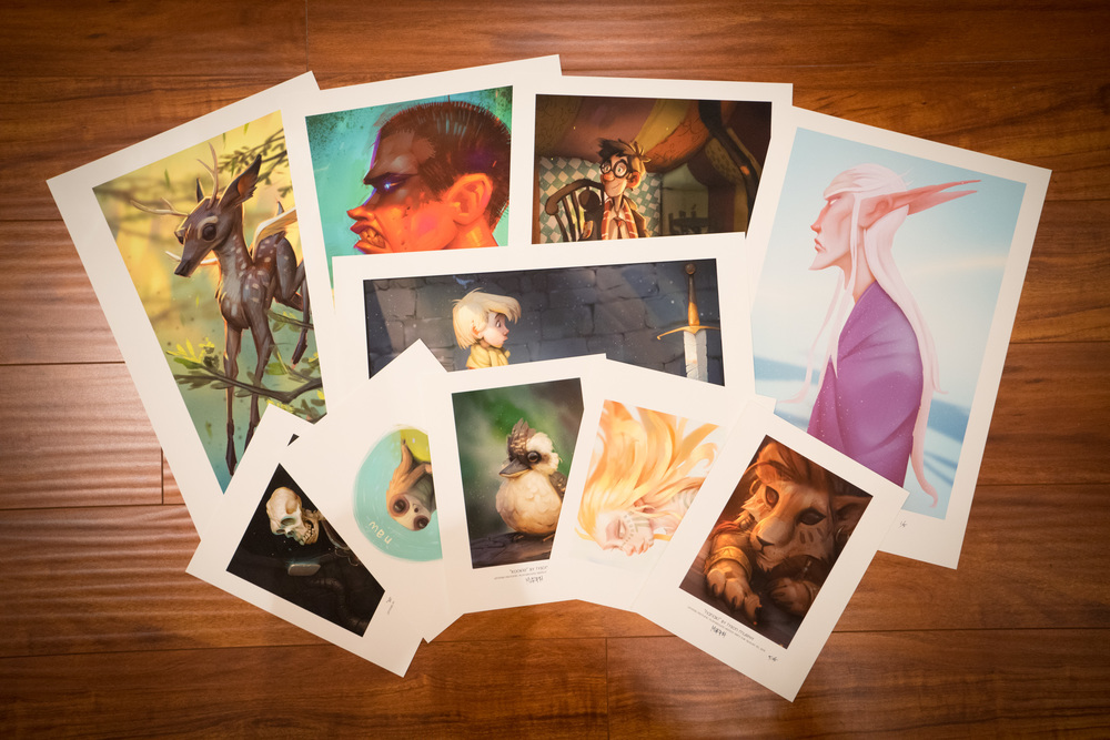 Some gallery giclée art prints for Tyson Murphy during the August/September 2015 exhibit