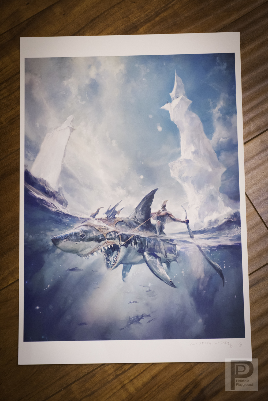 "13x19"" Print: ""Shark Rider"""
