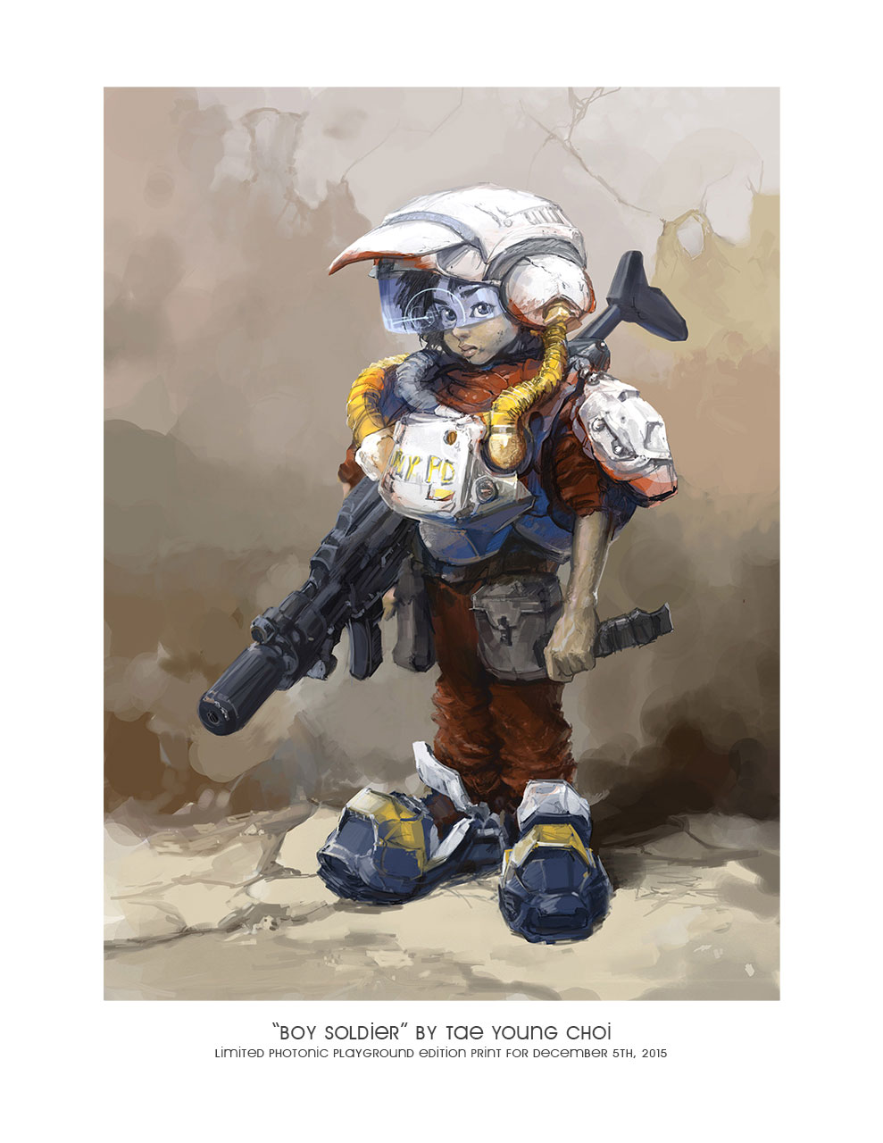 "8.5x11"" Print: ""Boy Soldier"""