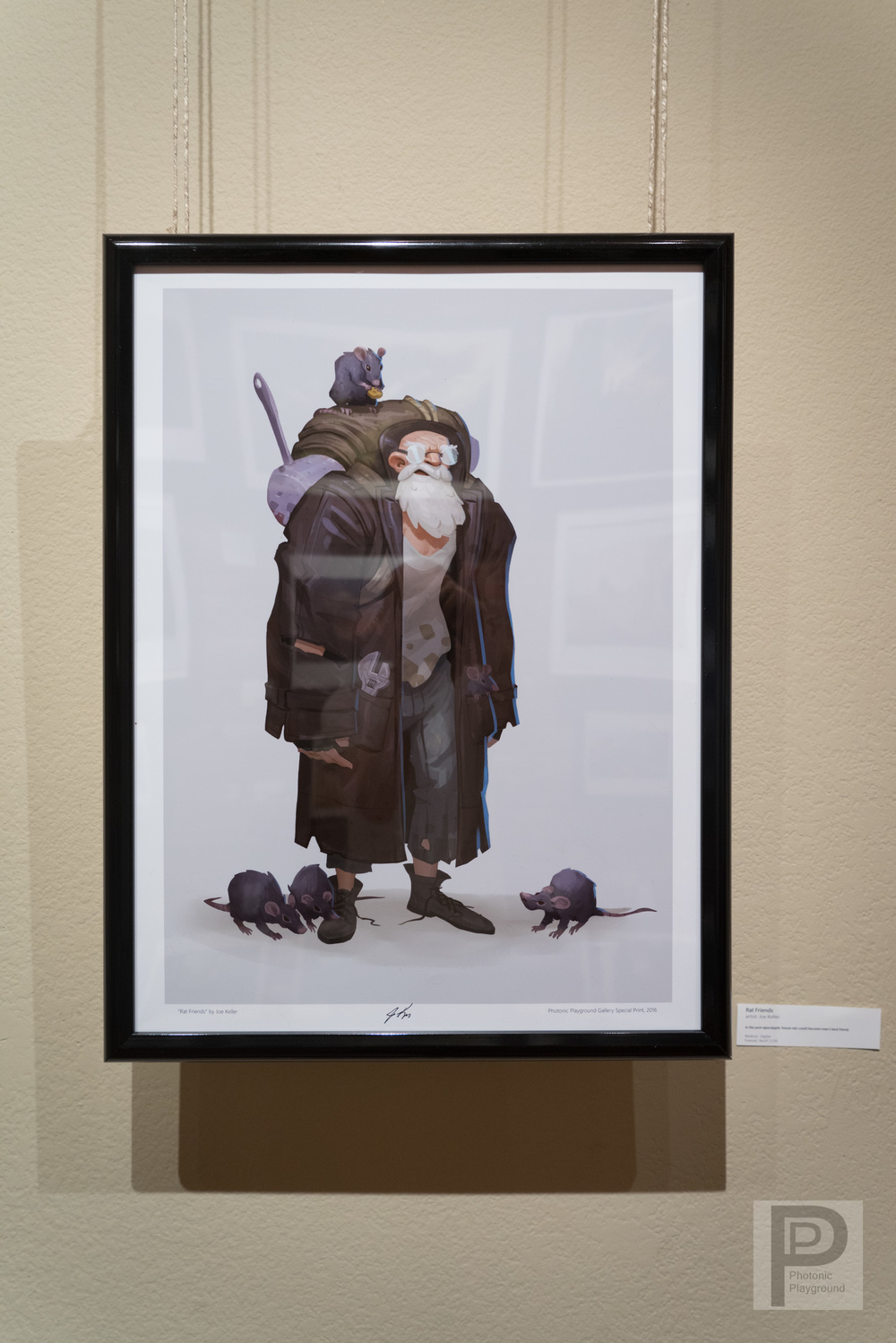 "Framed ""Rat Friends"""