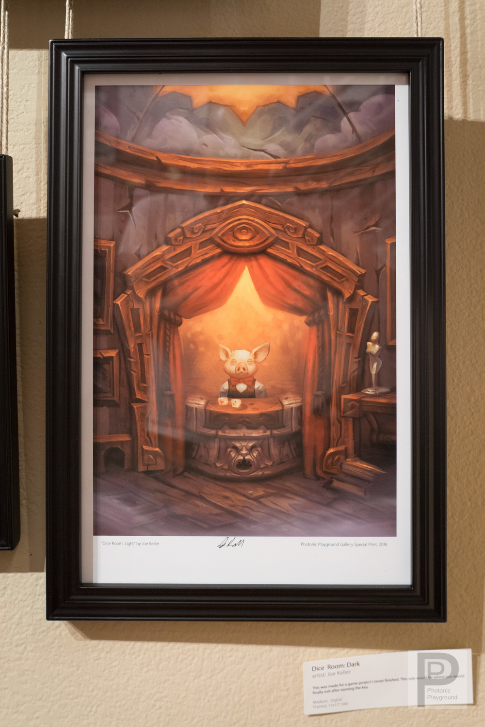 "Framed ""Dice Room: Light"""