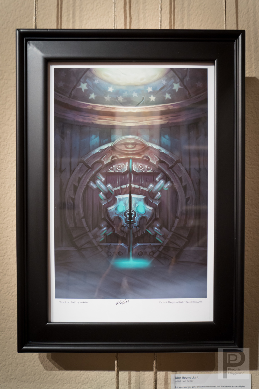 "Framed ""Dice Room: Dark"""
