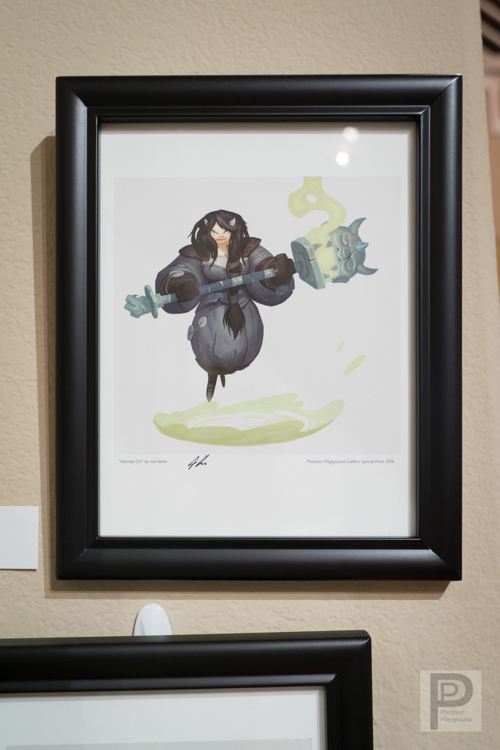 "Framed ""Horned Girl"""