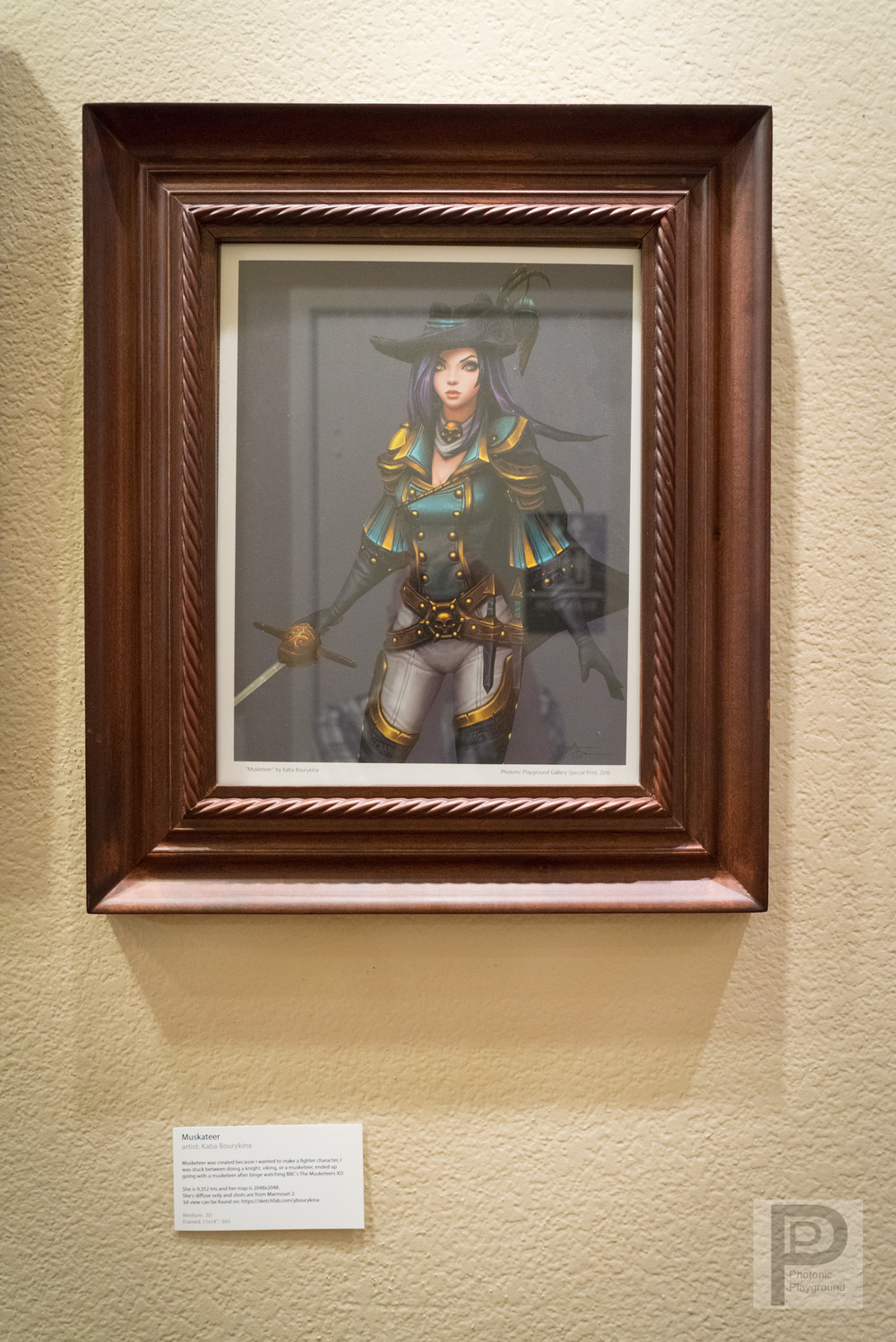"Framed ""Musketeer"""