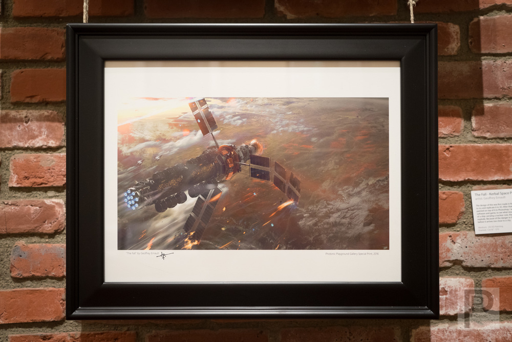 "Framed ""The Fall - Kerbal Space Program"""