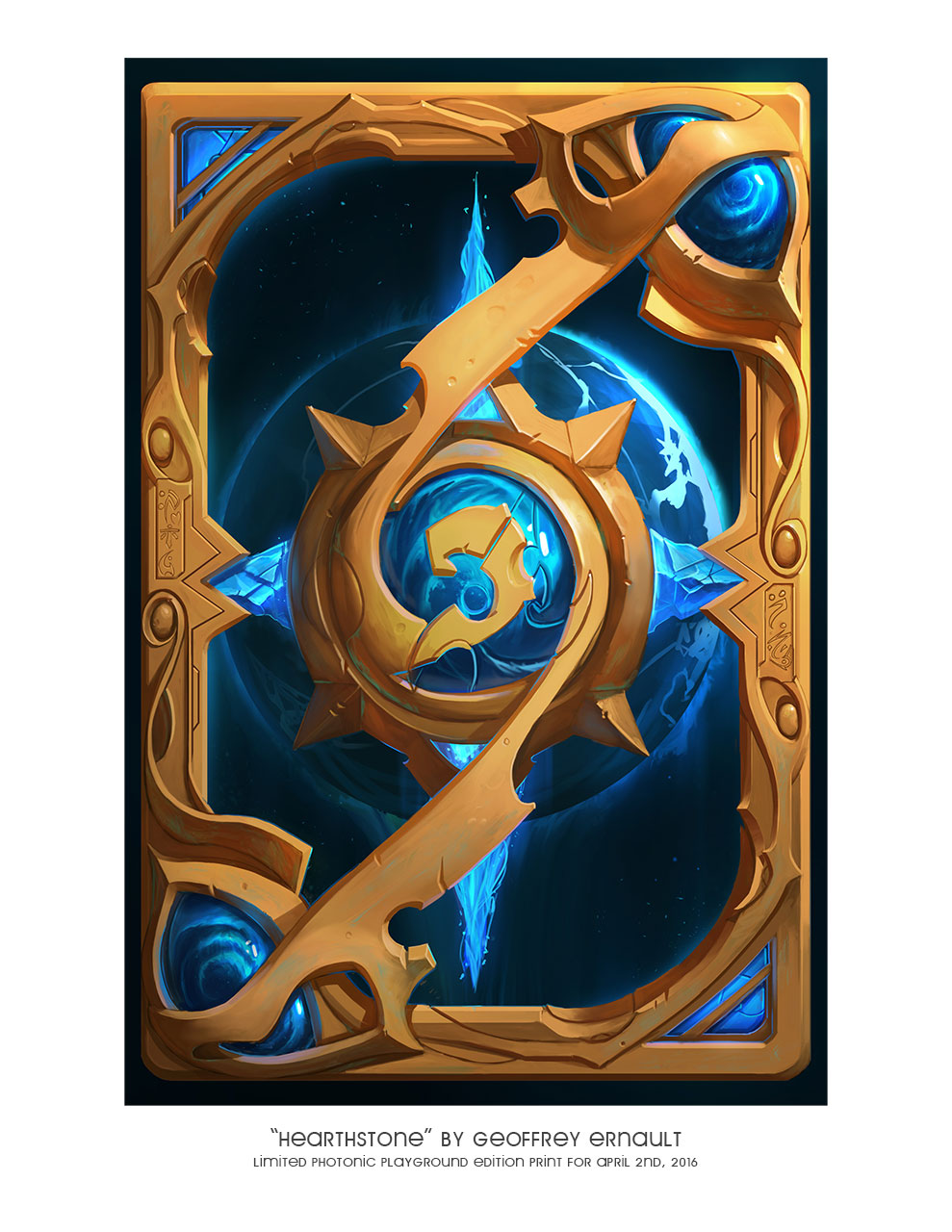 "8.5x11"" print of ""Hearthstone"""