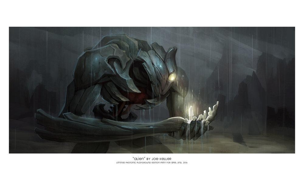 "11x17"" print of ""Alien"""