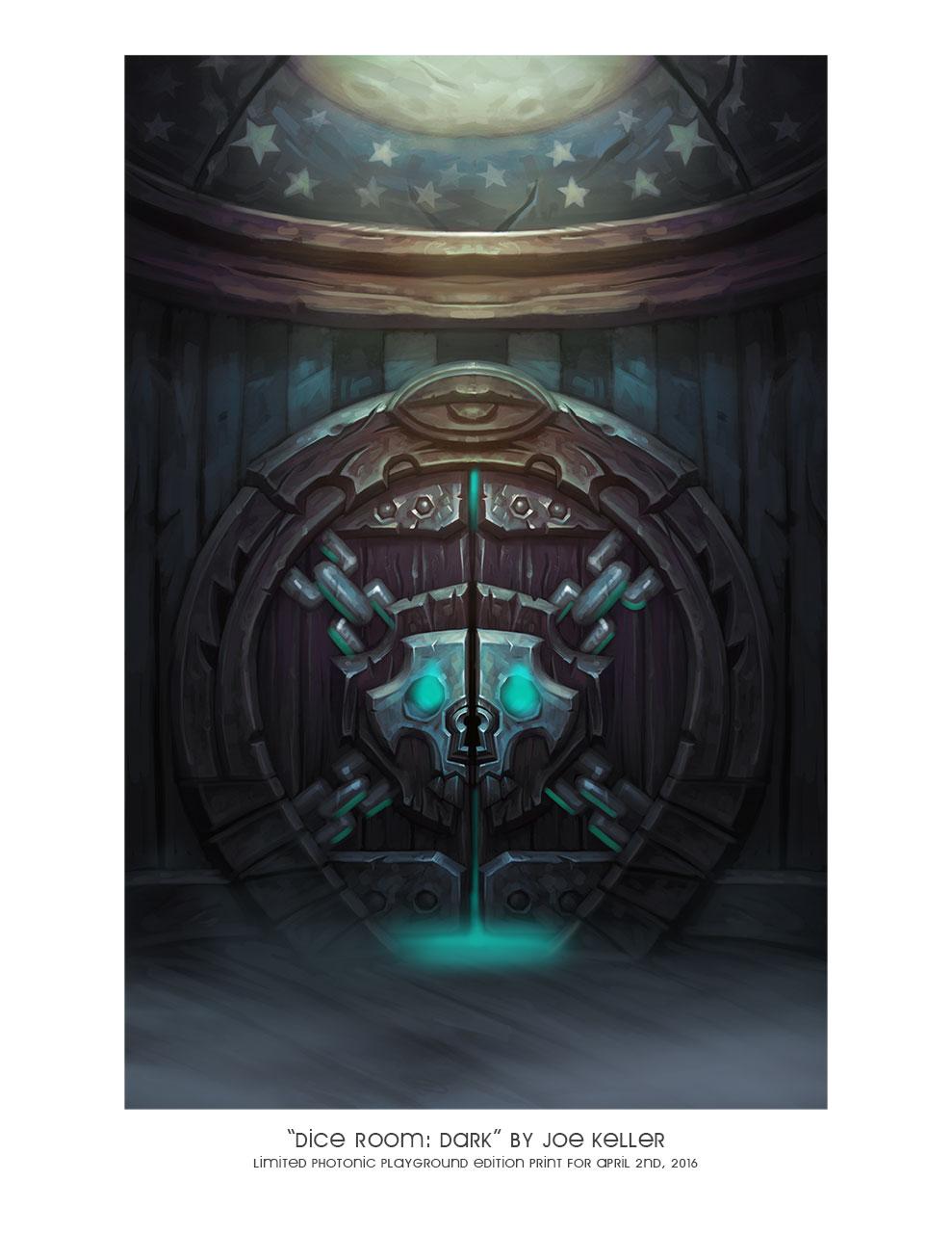 "8.5x11"" print of ""Dice Room: Dark"""