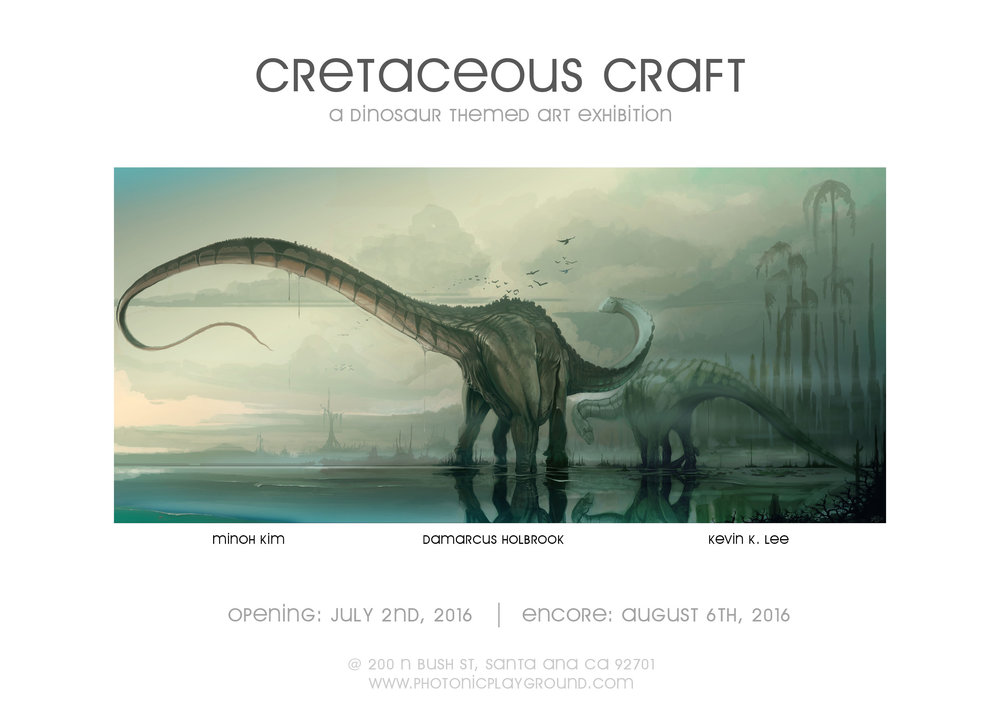 "The marketing postcard for ""Cretaceous Craft"""