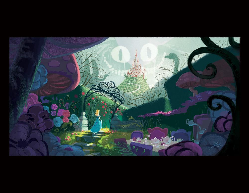 "Illustration by  Janna Bock ,  ""Wonderland,""  created in Photoshop, 2015"