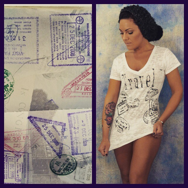 Who else has the #travelbug this Wednesday? Need to break out the #passport. #travelblogger #fitgirls #tshirt #screenprint #fashiontrends #instafab #instaglam #fashion #girlsthatlift #fab #puremichigan #madeinmichigan #model #thed #Detroit #murdermitten #etsy #hotpic #style #stylish #passportstamps #travel #TravelerLife #legday