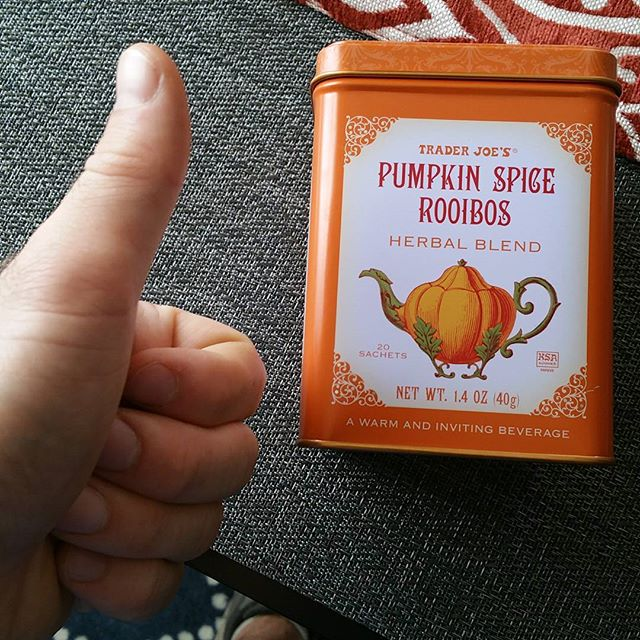 This @traderjoes #pumpkin tea is on point. #fall #halloween #tistheseason