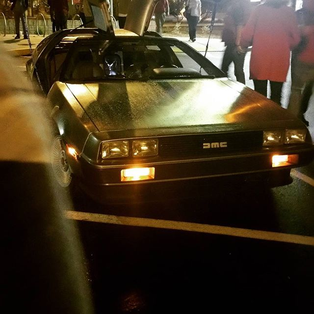 Taking in the #backtothefuture showing. Always need a #delorean. #backtothefutureday