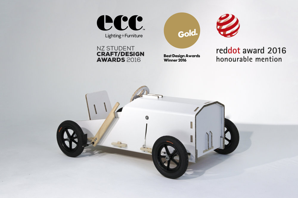 Cardboard Soapbox Racer. RedDot. Best Award