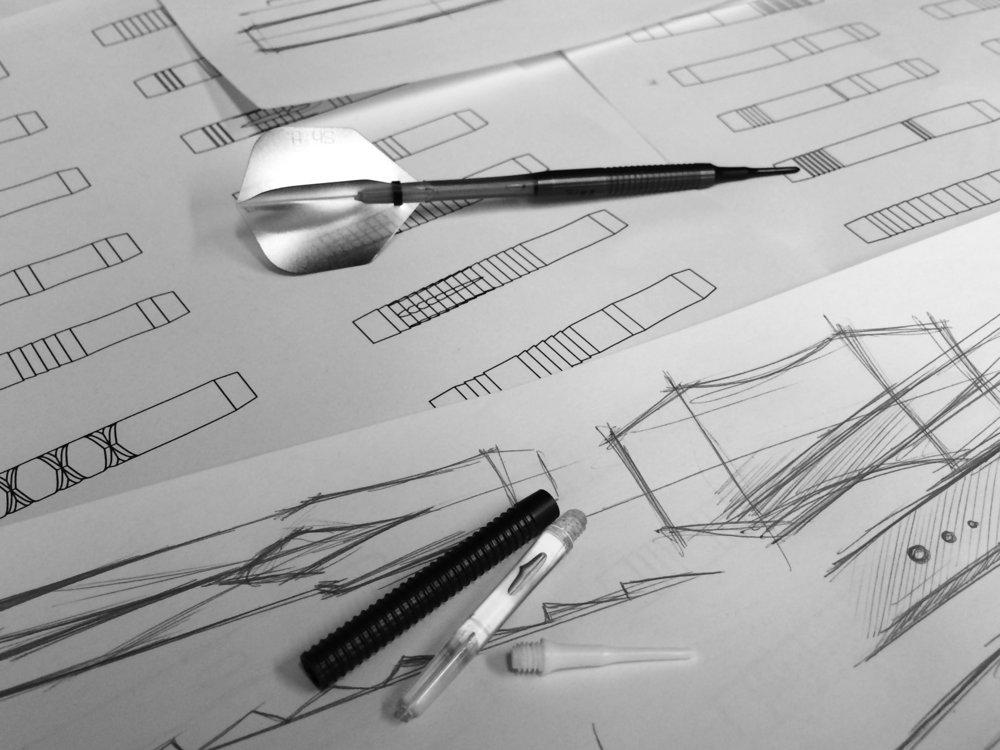 Chris White's Dart in mid design process (c.2016)