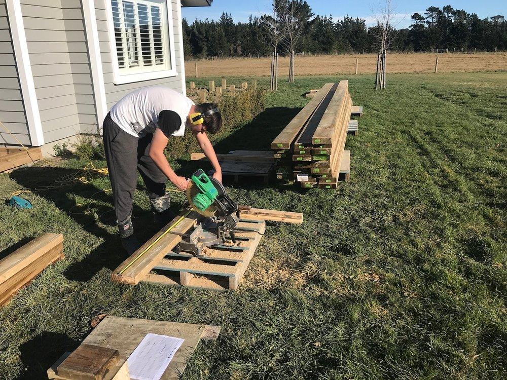 Cutting Decking Timber