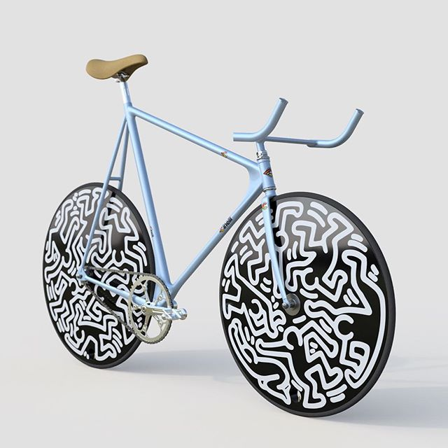 Keith Haring's Cinelli Laser is the most beautiful bike on earth. Some fine details still need finishing like bar tape, but I couldn't help but share my latest digital creation early.