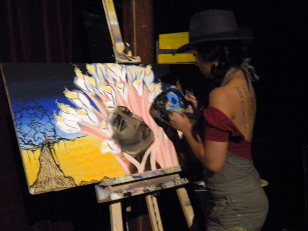 Live painting @ Disco Volante, Oakland