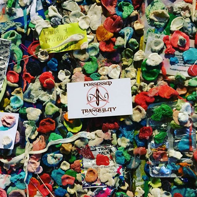 The almighty gum wall of #Seattle held up PT until it's last day today... #goodbyegumwall