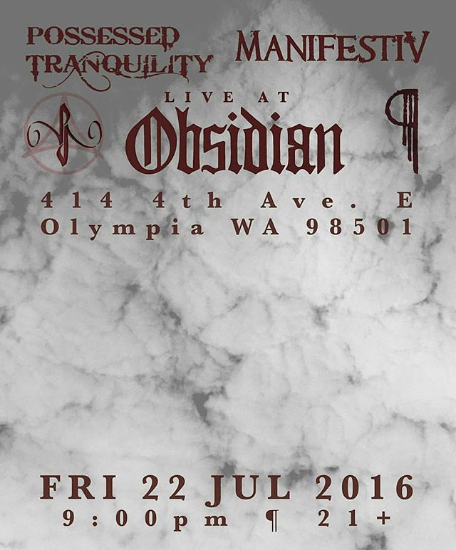 This Friday in #Olympia at #Obsidian! #electronicrock #ManifestiV #industrial #music #PT