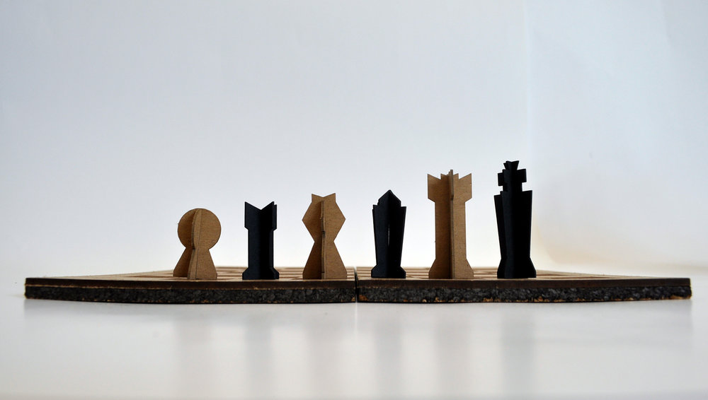 - The chess pieces can be built then dismantled for easy storage.