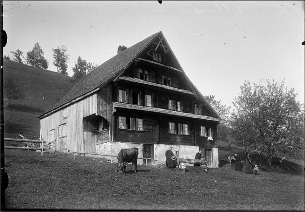 Bauernhaus Müserberg 1, zwischen ca. 1880 und ca. 1940 (KAE, Glasplatte 04439)