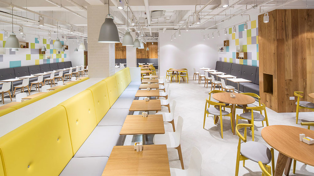 Debenhams Oxford Street Restaurant On 5 furniture by HF Contracts.