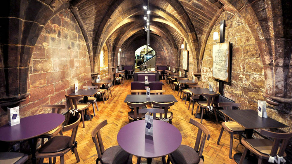 The Crypt Restaurant furniture   by HF Contracts.
