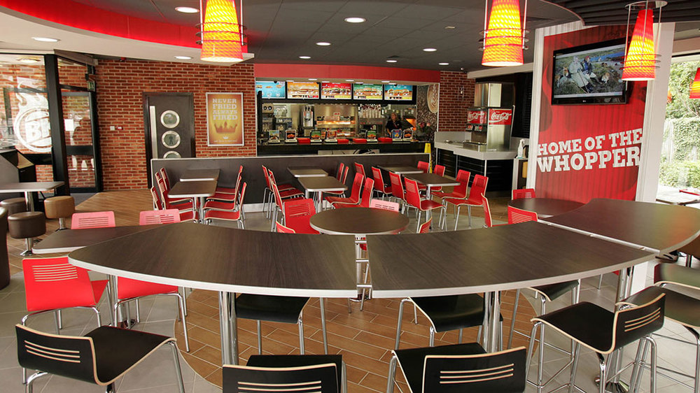 Burger King furniture by HF Contracts.