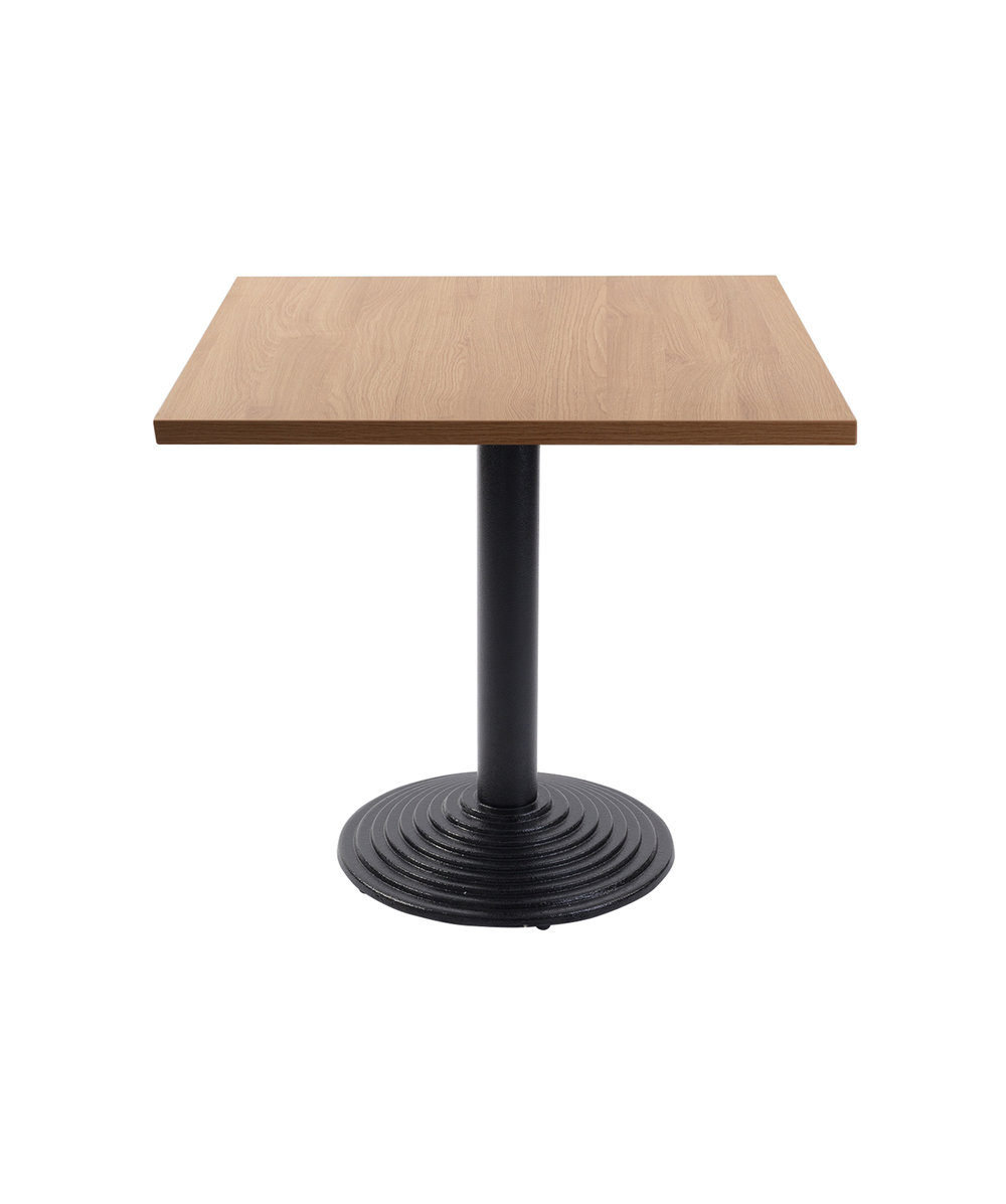 Mayan Round dining Base with Square Oak top.jpg