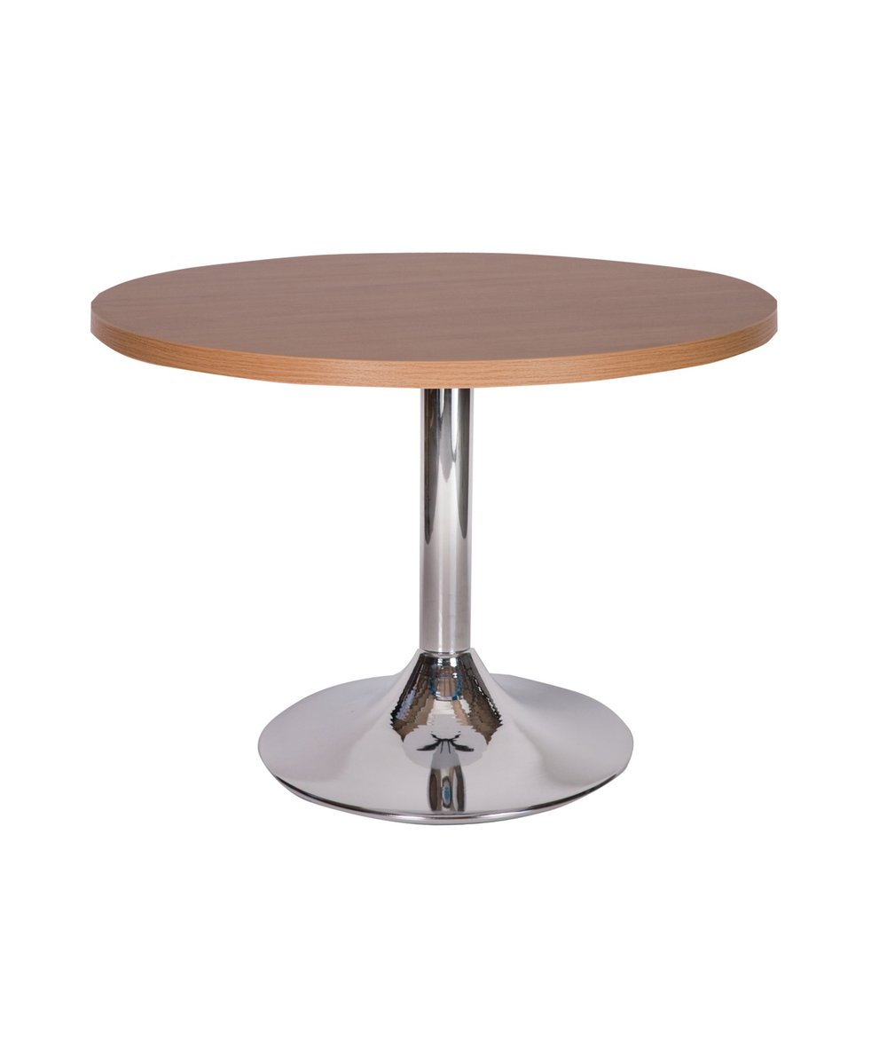 Ramiro chrome trumpet dining base with oak top.jpg