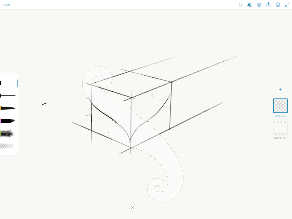 Adobe Sketch has a very minimalist interface, although the French curves and all the other guide shapes is a nice plus.