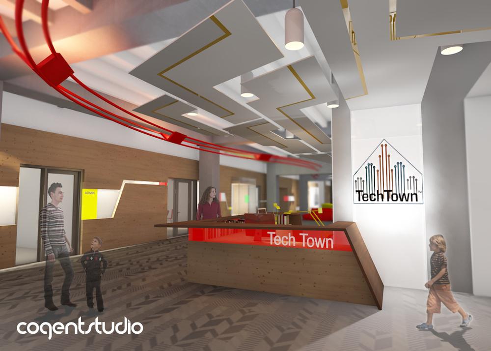 Entryway rendering by Cogent Studio