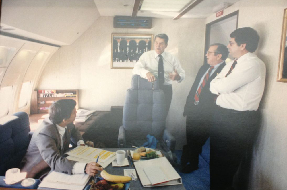 Tom Griscom on Air Force One