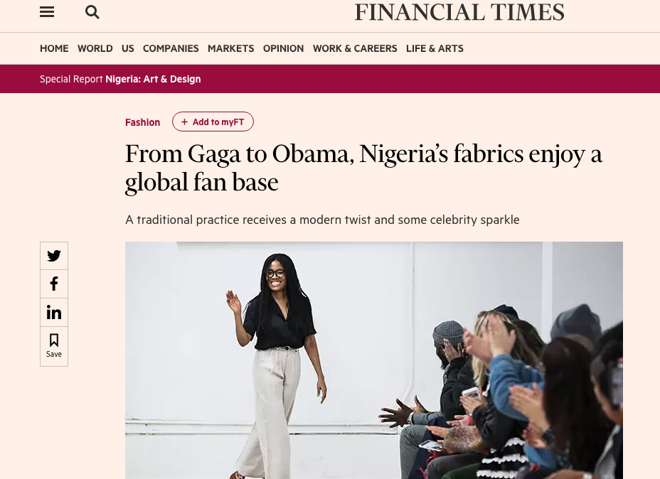 Financial Times 31.3.2018 - Read full article  HERE