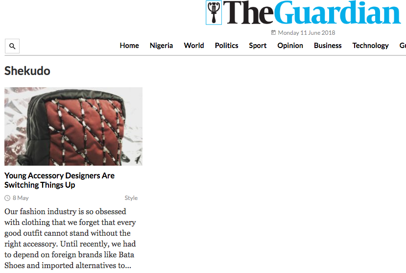 The Guardian Ng 08.05.2018 - Read full article  HERE