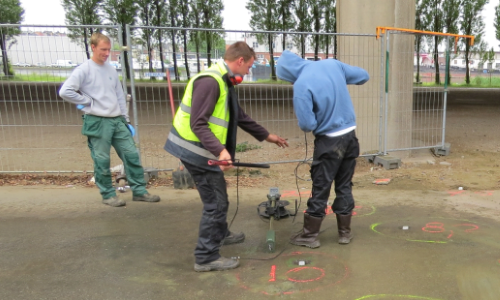 bore hole detection
