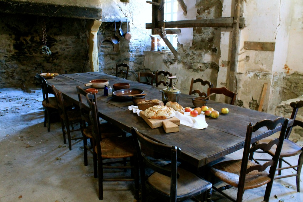 The medieval kitchen was the very first kitchen before the Château was built and the site was a fortress in the 13th Century.