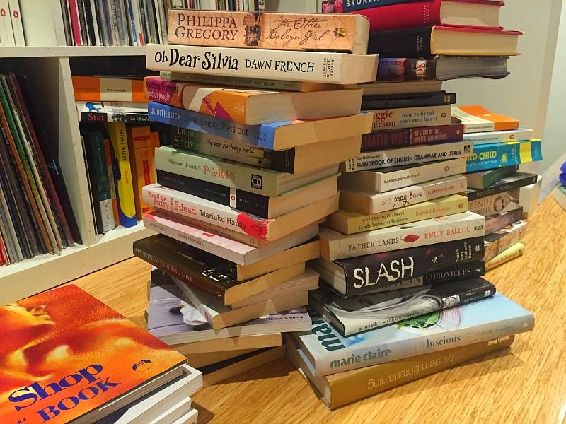The donate pile. Sorry Slash.