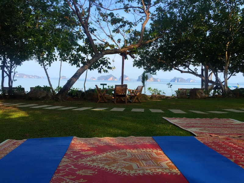 Morning yoga views in Thailand