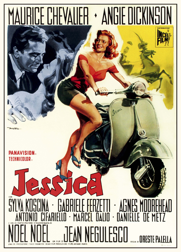 Jessica—played by Angie Dickinson on her Vespa