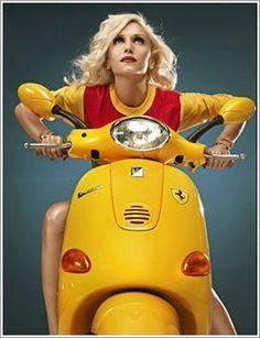 Gwen Stefani on her famous Yellow Vespa